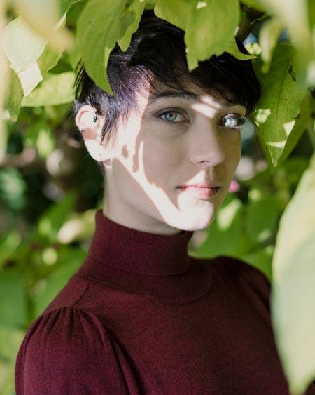 Female portrait, shot in Jephson Gardens, Leamington Spa UK