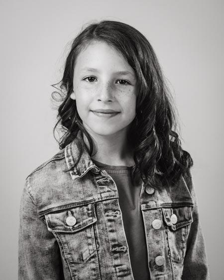 Photo of a girl, shot in studio in Coventry, UK