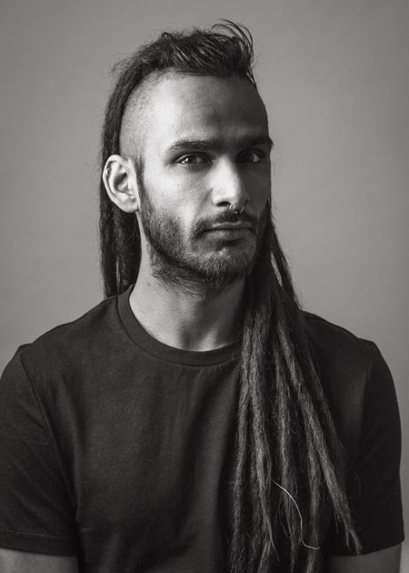 BW DJ headshot, photographed in studio in Coventry, UK
