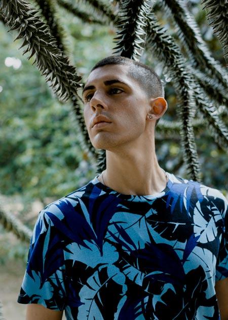 Male solo portrait, shot in Jephson Gardens, Leamington Spa UK